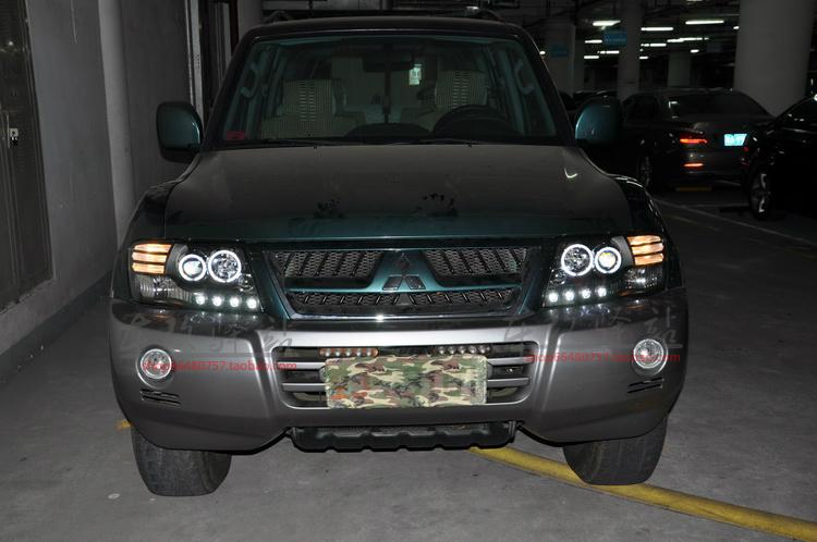 Car Styling Head Lamp for Mitsubishi Pajero headlights Pajero V73 led headlight turn signal drl H7 hid Bi-Xenon Lens low beam