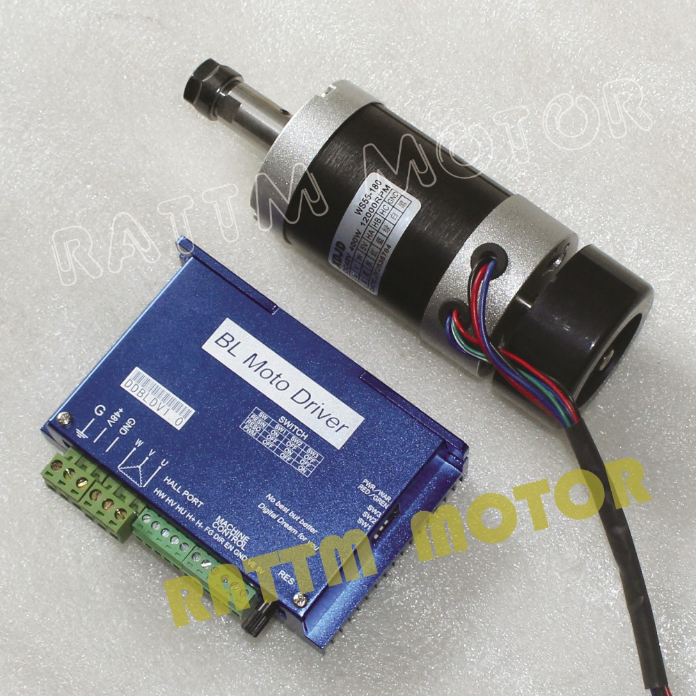 400w cnc 12000rpm brushless air cooled dc spindle motor for High speed brushless dc motor