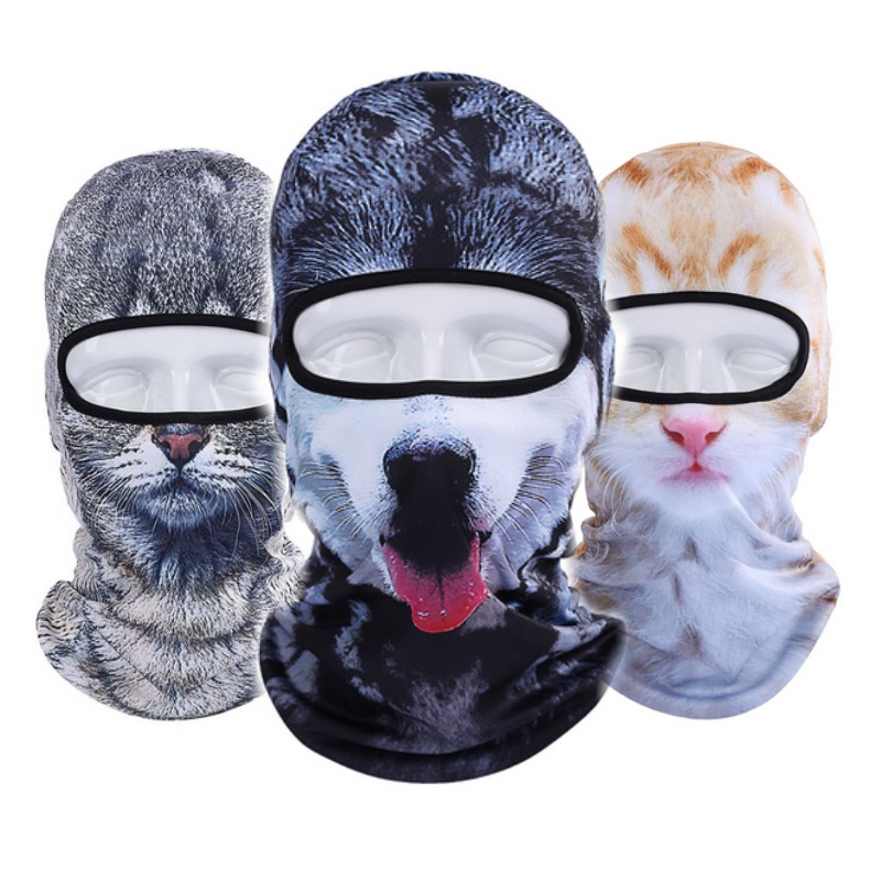 Balaclava Outdoor Cycling Sun Protection Caps Basketball 3D Animial Headgear Face Mask Ski Halloween Full Face Mask(China (Mainland))