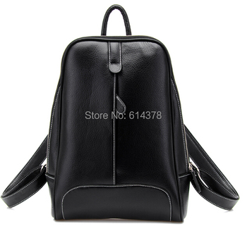 High Quality Waterproof Material  Backpacks Fashionable Casual double Shoulder  PU leather backpack School bag