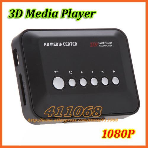 Full HD TV 1080P Media Player RM/RMVB/AVI/MPEG Multi Media Video Center with HDMI YPbPr AV USB SD/MMC Port Remote Control (D398)(China (Mainland))