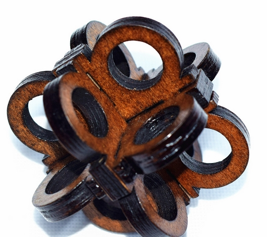 Brain Teaser Toy Intelligent China Kongming Lock Eye Lock Magic Wood Jigsaw Puzzle 7.5cm*7.5cm7.5cm(China (Mainland))