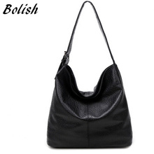 Buy Bolish European American Style PU Leather Top-handle Bag Fashion Larger Shoulder Bag Brief Capacity Women Bag Shopping Bag for $16.44 in AliExpress store
