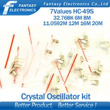 7values*5pcs=35pcs 32.768Khz 6Mhz 8Mhz 11.0592Mhz 12Mhz 16Mhz 20Mhz Crystal Oscillator HC-49S  new and free shipping(China (Mainland))