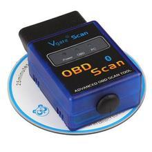 Hot Sale Mini ELM327 V2.1 Bluetooth HH OBD Advanced OBDII OBD2 ELM 327 Auto Car Diagnostic Scanner code reader Scan Tool Blue