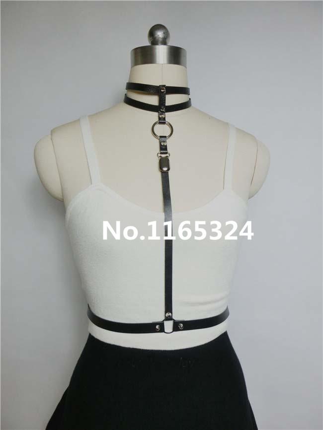 Fashion Punk Sexy Harajuku Genuine Leather Harness, Handmade Double Rows Halter Attach to Wasit Belt Garter BeltОдежда и ак�е��уары<br><br><br>Aliexpress