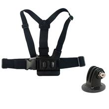 Elastic Adjustable Chest Mount Belt With Tripod Adapter For SJCAM SJ4000 Gopro Hero 4 3+ 3 2 Action Camera Accessories