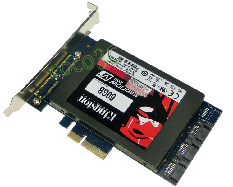 "Marvell chipset 2.5"" SATA 6Gbps + 3 Ports SATA 3.0 PCI-e Hybrid Controller Card HyperDuo SATAIII SSD + HDD PCI Express card(China (Mainland))"