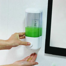 New Hot Sale ABS Material Wall-mounted Soap Dispenser for Bathroom, Kitchen, or Bedroom, Hotel, Hospital 8.2cm*8cm*21.5cm(China (Mainland))