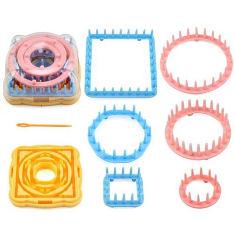 9PCS Flower Knitting Loom Knit Daisy Pattern Maker Wool Yarn Needle Home Craft Needlework Knit Hobby(China (Mainland))