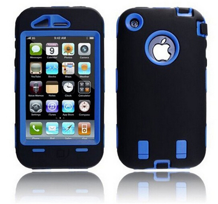 Soft and Hard Hybrid Impact Robot Case for Iphone3 3G 3S Dustproof Drop Resistance(China (Mainland))