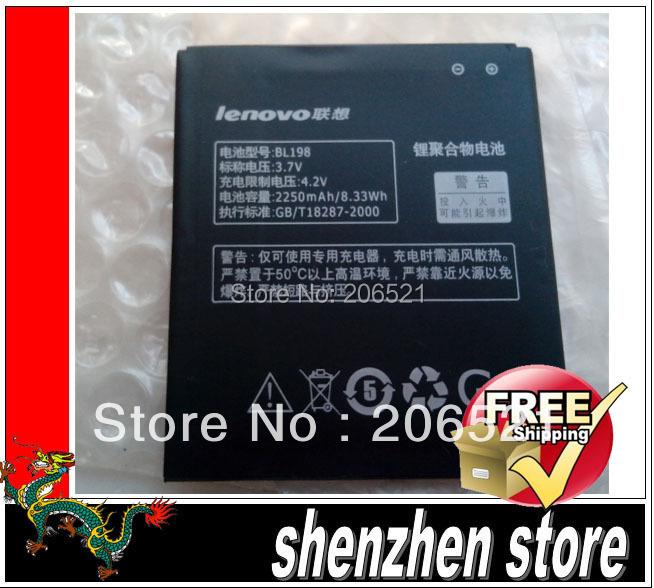 2250 mah battery New BL198 For Lenovo lephone K860 K860i S880 S880i S890 BL-198 Free ship Airmail + tracking code