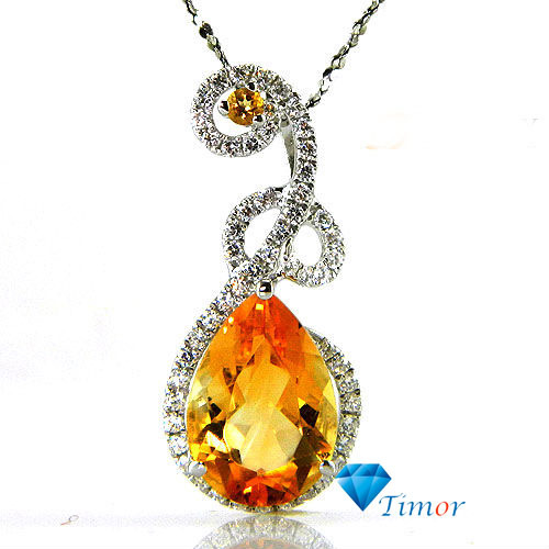 Wholesale Cheap High Quality Fashion Retro Vintage 4.5ct Natural Fine Jewelry Citrine Necklaces Pendant 925 Silver Free Shipping<br><br>Aliexpress
