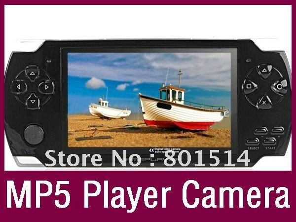 Handheld Game Player With 4GB MP3 MP5 Video FM Camera TV OUT Portable Game Console Multimedia Player 4.3 Inch PMP(China (Mainland))