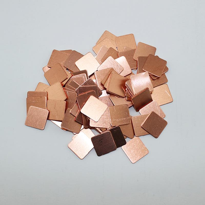30Pcs 15mmx15mm Heatsink Copper Shim Thermal Pads for Laptop GPU CPU VGA Free Shipping MD047(China (Mainland))