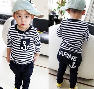 retail Hot selling Kids clothes stripe set Skirts+T Shirts Cartoon clothing - Online Store 923589 store