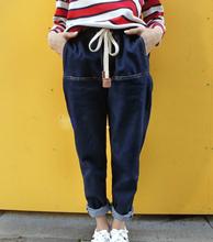 S 6XL Plus Size Loose Denim Pants Boyfriend Jeans for Women Denim Harem Pants Hip Hop