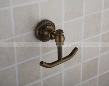 Antique Brass Wall Mounted Bathroom Clothes Hook Coat Hanger Towel Bar/Hook