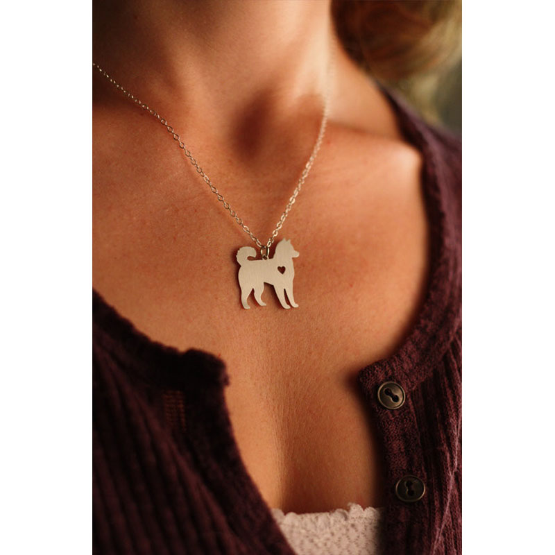 SALE Husky Necklace Siberian Alaskan Malamute Akita Custom Dog Necklace Breed Personalized Memorial Gift Family Pet for lovers(China (Mainland))