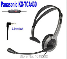 Free Shipping 1 extra ear pad +PANASONIC KX-TCA430 Comfort-Fit, Foldable Headset  2.5mm plug Volume and Mute microhphone(China (Mainland))