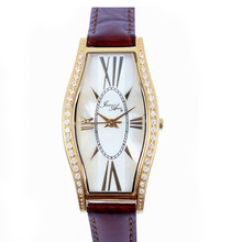 Venta al por mayor vestido de moda zafiro MOP Dial cristal configuración caja de acero inoxidable elegante diseño relojes de señora envío gratis