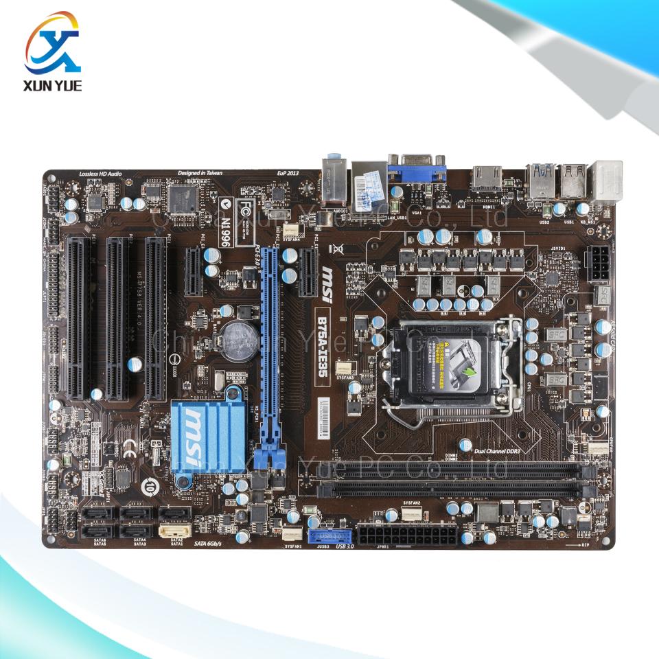 For MSI B75A-IE35 Original Used Desktop Motherboard For Intel B75 Socket LGA 1155 For i3 i5 i7 DDR3 16G SATA3 ATX(China (Mainland))
