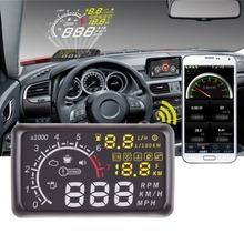 """Nueva X3 5.5 """" coche ELM327 Bluetooth Heads up Display Hud OBD II vehículo advertencia de exceso de velocidad MPH con antipatinaje Pad envío gratis(China (Mainland))"""