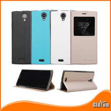 LEAGOO Alfa 5 High quality Original leather case window-viewed flip cover with Silicone shell for LEAGOO Alfa5 Free Shipping(China (Mainland))