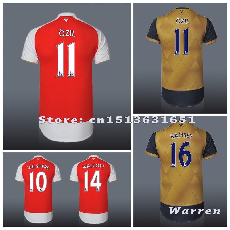 Best Thai quality15 16 Premier League Soccer Jersey 2015 2016 Free shipping home away camisetas de futbol football shirts(China (Mainland))