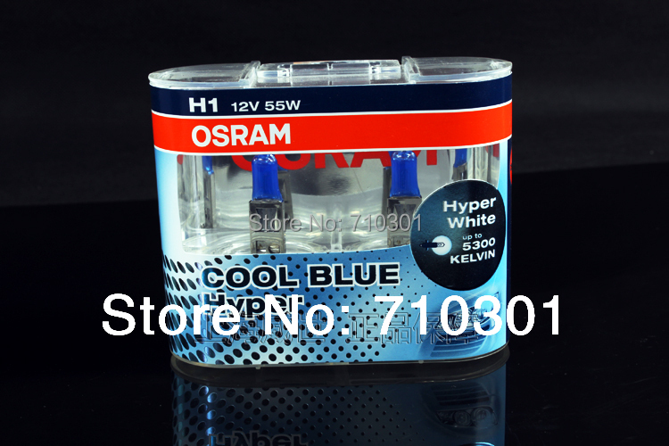 Free shipping fee!! Car headlight OSRAM halogen lamp COOL BLUE HYPER P14.5S 62150CBH H1 55 W 12V 5300K(China (Mainland))