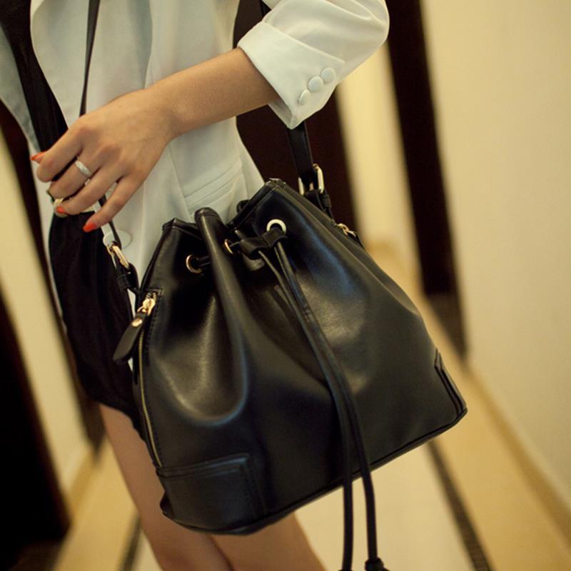 2015 High Quality Women Bucket Handbags Crossbody Messenger Bag Fake Leather Designer # 73594(China (Mainland))