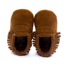 Hot PU Suede Leather Newborn Baby Boy Girl Baby Moccasins Soft Moccs Shoes Bebe Fringe Soft Soled Non-slip Footwear Crib Shoe(China (Mainland))