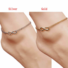 Amazing New Sexy Women Lucky Infinity Silver Plated Anklet Ankle Bracelet Foot Chain Elegant