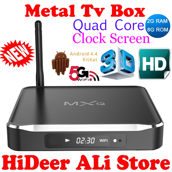 2016 Original MXQ M10 Android 4.4 kitkat Quad Core Kodi TV Box Amlogic S812 Cortex A9 2.0GHZ 4K/3D/1080P Mali-450MPWiFi - HiDeer Tech Co., Ltd Store store
