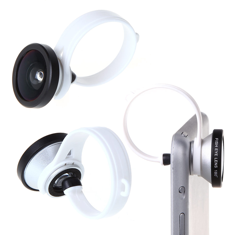 Universal New 180 Degree Fish Eye Lens Clip for iPhone4 4s 5 5s Samsung S4 Note3 Nexus5 HTC