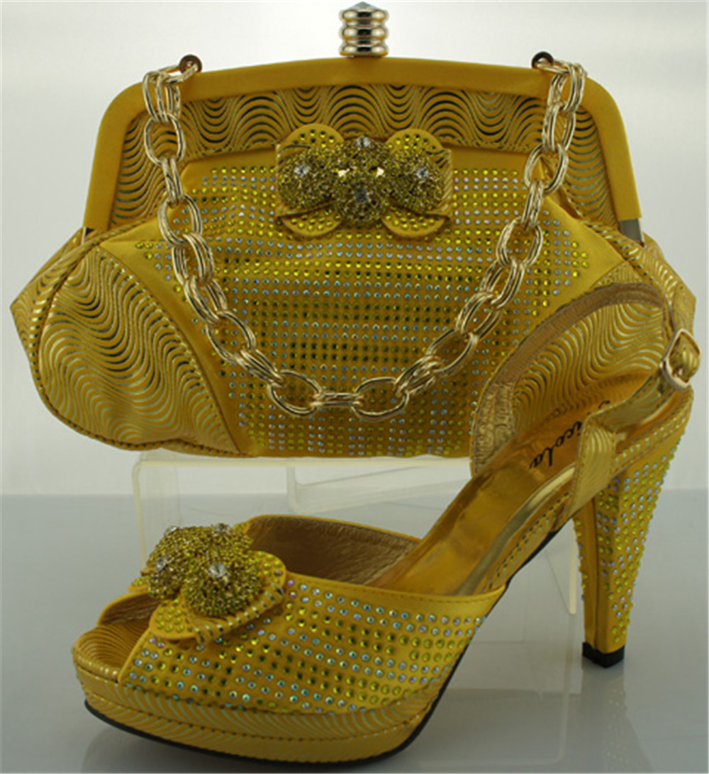 Free shipping by DHL,ME0011 Yellow Italian shoe and matching bag,Wedding and Party to matching shoe and bag.<br><br>Aliexpress
