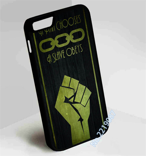 Bioshock A Man Chooses a Slave Obeys fashion cover case for iphone 4 4S 5 5S SE 5C 6 6S 6plus & 6s Plus #Y39(China (Mainland))