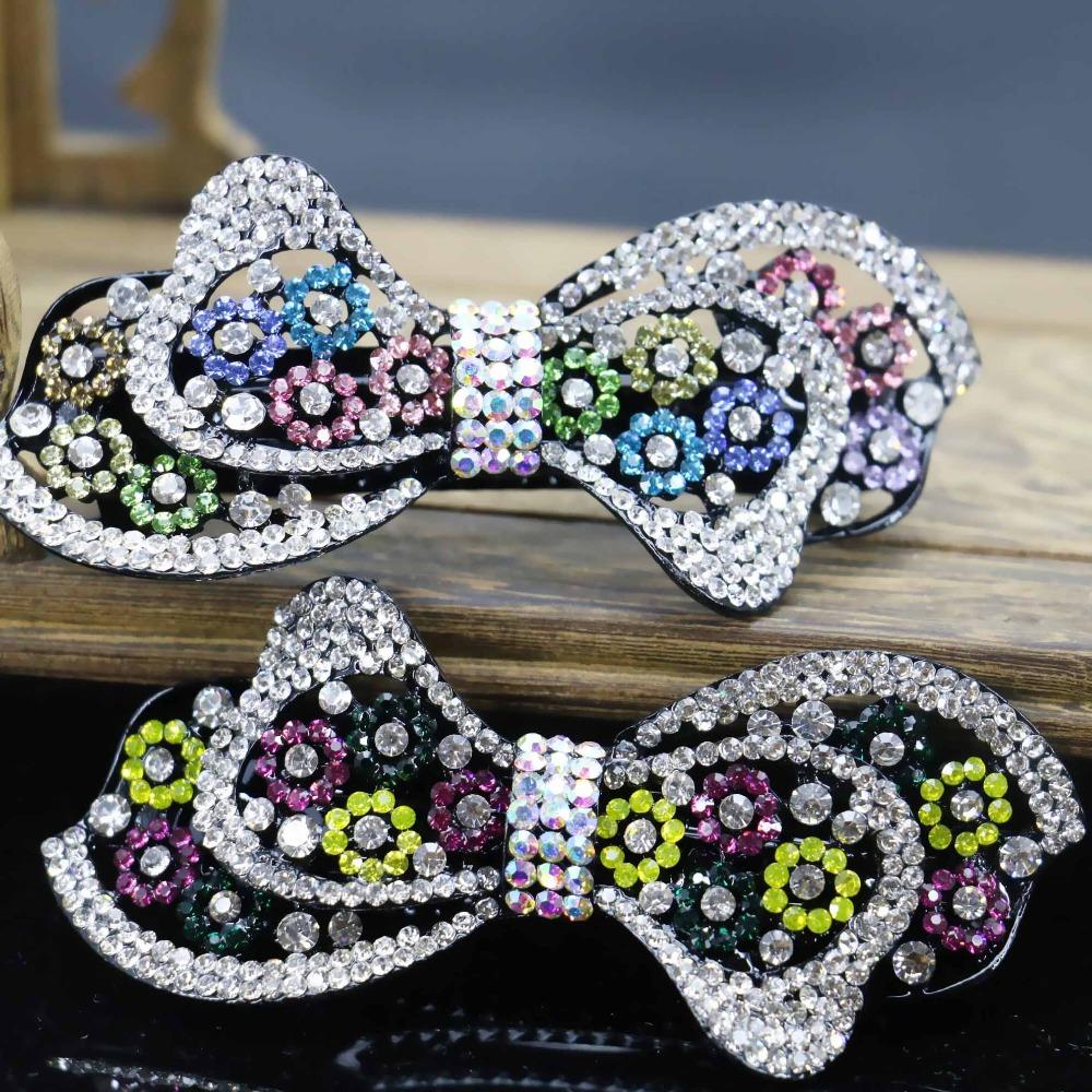 35*87mm Hot Headdress Headband Head Bands Headpiece Hair Accessory Inlaid Rhinestone Gifts For women Girls Bow Bowknot(China (Mainland))