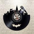 2017 Hot cd Vinyl Record Design Wall Clock Classic Batman Arkham City Logo Wall Clocks Quartz