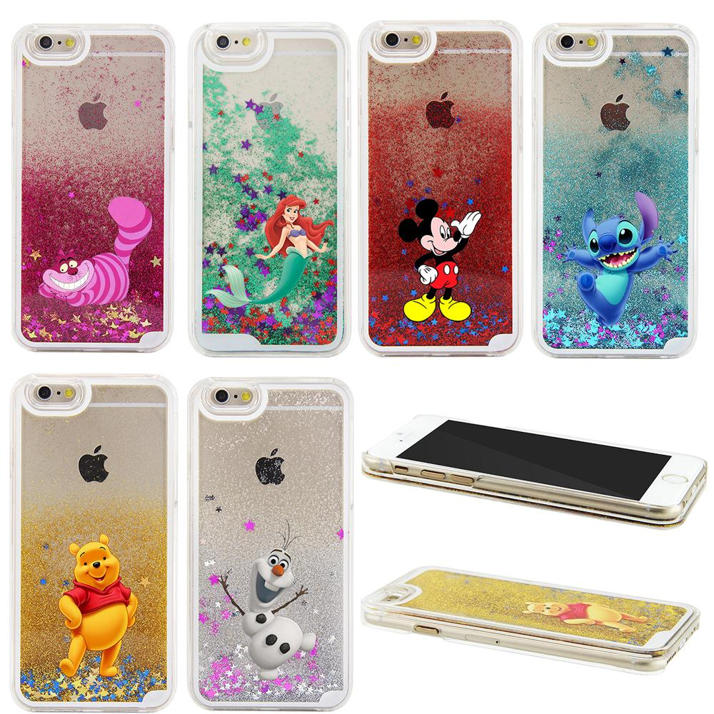 Buy 2016 NEW 3D Liquid Sparkle Cartoon Little Mermaid Winnie Pooh ...