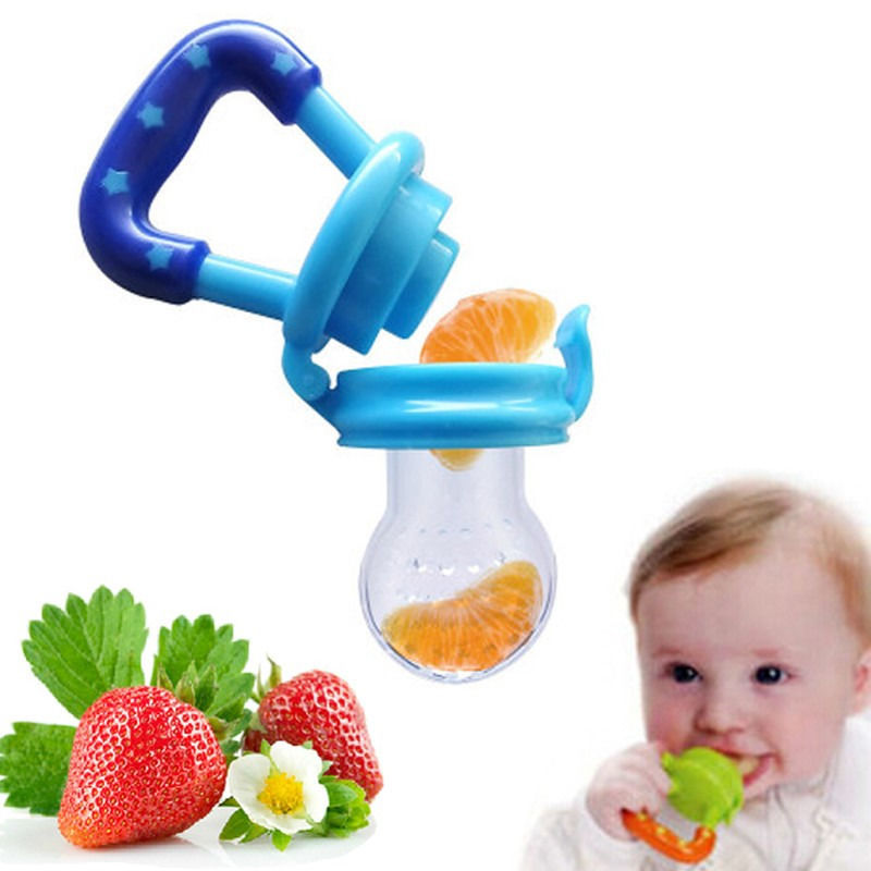 Portable Baby Infant Food Nipple Feeder Silicone Pacifier Fruits Feeding Supplies Soother Nipples Soft Feeding Tool