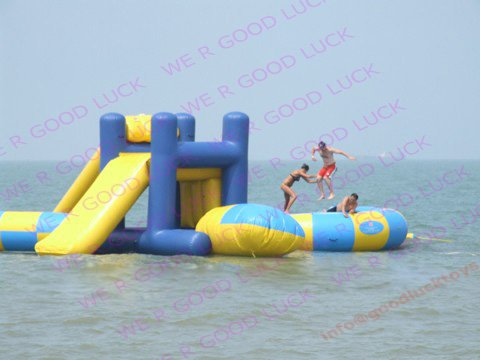 inflatable trampoline,water parkwith slide,outdoor fun&sport, WG36, factory price, retail & wholesale(China (Mainland))