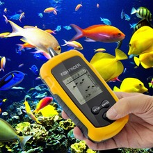 High Quality 100M Portable Sonar Sensor Wireless LCD Fish Finder Alarm Fishfinder Transducer New(China (Mainland))