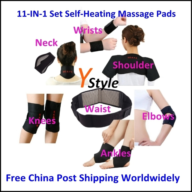 1 Set Free Shipping 11-In-1 Set Tourmaline Heating Massage Belts In Promotion for Neck Shoulder Waist Albow Wrist Knee Ankle