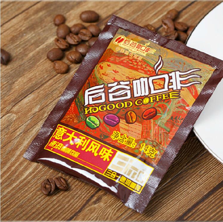 Free shopping bulk sachets Yunnan arabica coffee HOGOOD triple instant coffee Italian style 14g 1 12Bags