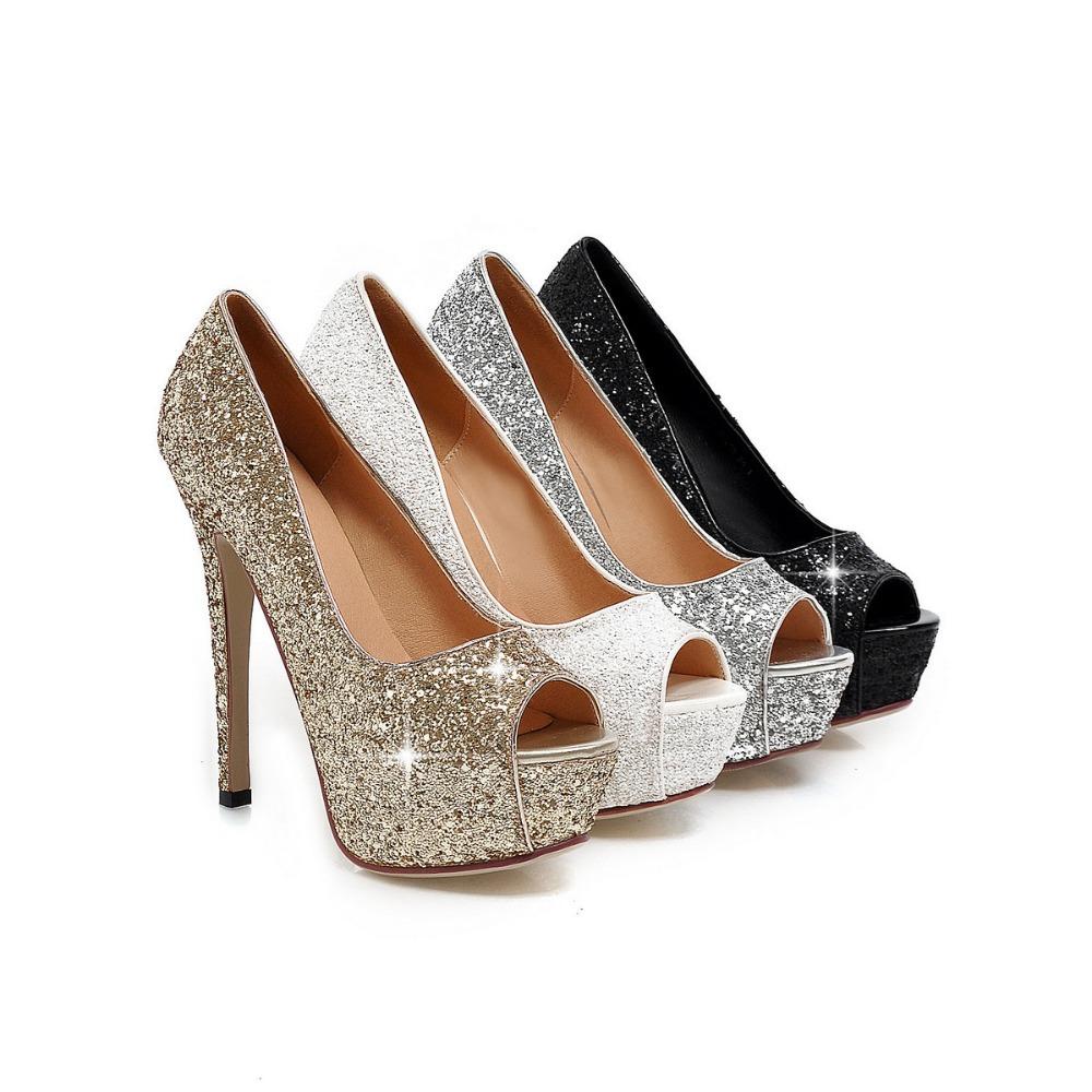 Silver Evening Heels