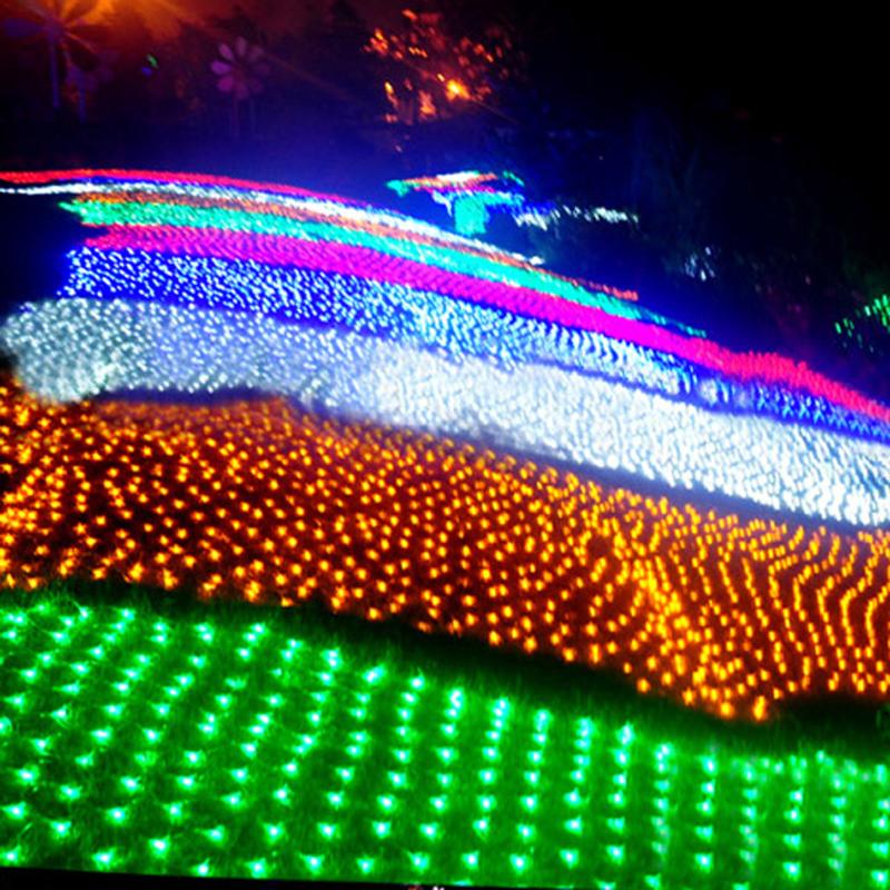 9 colors 110V/220V 1.5*1.5M 96 LED net string lighting lamp for Christmas Birthday wedding party, holiday light Free shipping(China (Mainland))