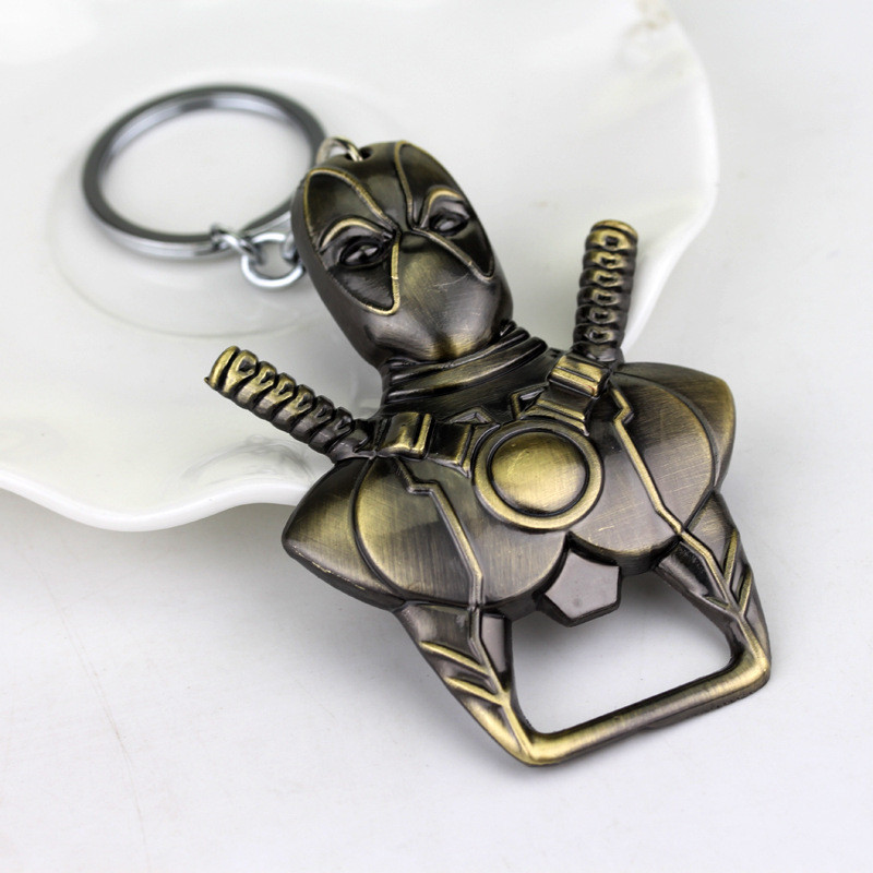 Deadpool bottle opener keychain