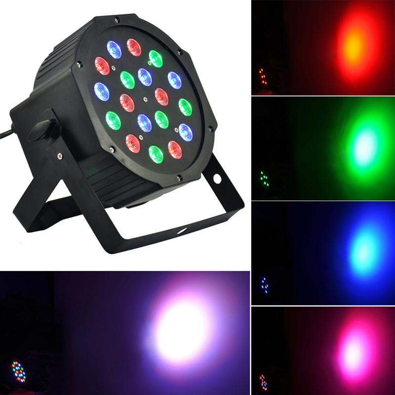 Eyourlife Christmas Party Light Par Led RGB 18x3w Stage Disco Show Lights DMX Controller<br><br>Aliexpress