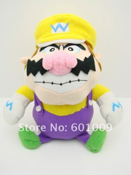 "Free Shipping EMS 100/Lot Super Mario Bros WARIO 9"" Plush Doll Soft Toy Wholesale(China (Mainland))"